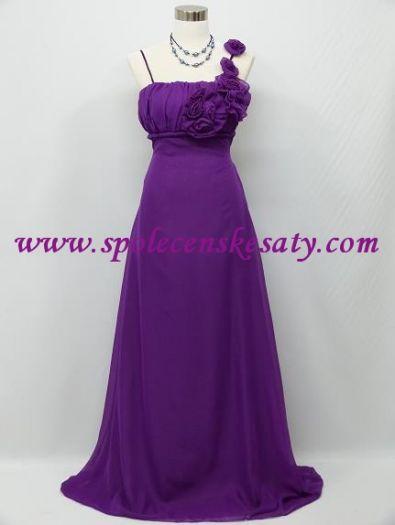 Tmavě fialové dlouhé společenské šaty pro plnoštíhlé i těhotné vel.40-46 M  XL 28a8a61639
