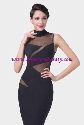 a31c4d913fd Černé dlouhé sexy společenské šaty pro moderní ženu ve vel. 40 42 46 ...