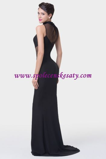 Černé dlouhé sexy společenské šaty ... ac1fa07637f