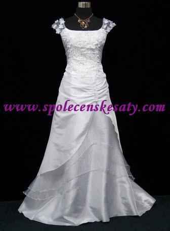 ee444e2d8f2 Bílé svatební společenské plesové dlouhé šaty s výšivkou velikost 42 44 48  50 52 54 59