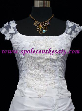 Bílé svatební společenské plesové dlouhé šaty s výšivkou velikost 42 ... 0046f646bb