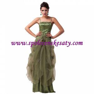 4501eb8e74b Zelené společenské dlouhé šaty s nabíranou sukní vyšívané na svatbu vel. 52  48 XXL č