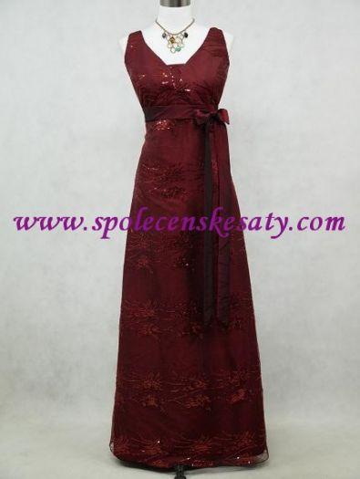 fda6ec0b8a9 Červené bodró dlouhé společenské šaty na hrubší ramínka na svatbu ples vel.  L XL 44