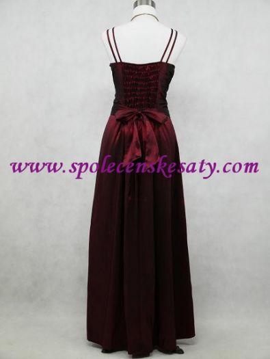 Červené bodró dlouhé společenské šaty ... 700ac6ab39