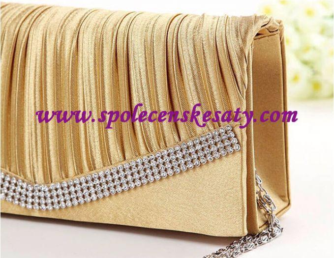 beca3fffb0 Zlatá luxusní mini kabelka psaníčko na ples do společnosti do tanečních na  svatbu K35