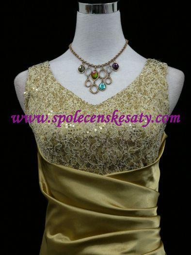Zlaté žluté společenské plesové svatební šaty ... 7fa943ceb1d