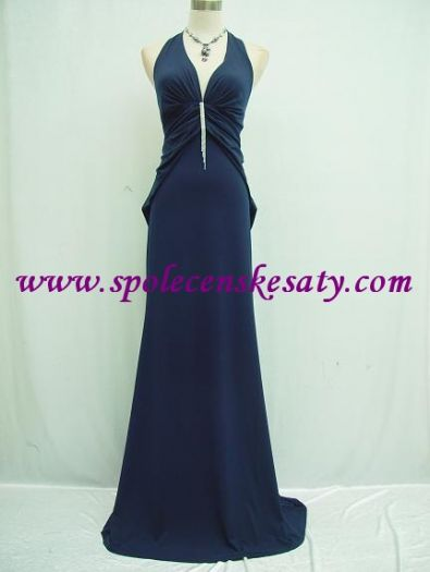 0e6104232e8 Tmavě modré dlouhé sexy společenské dlouhé šaty z elastického materiálu a  sponou č. 3138