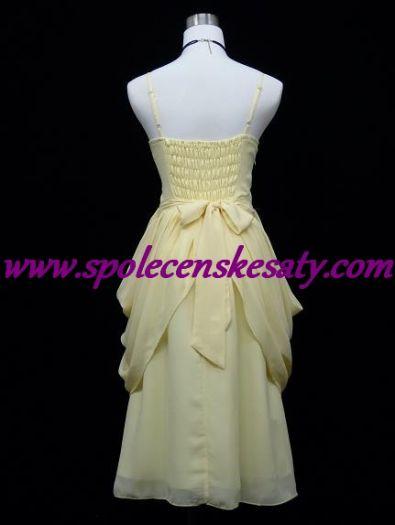 Žluté krémové společenské šaty ... ff64b2b7431