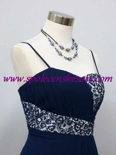 Modré splývavé společenské šaty pro těhotné ... da6b738537