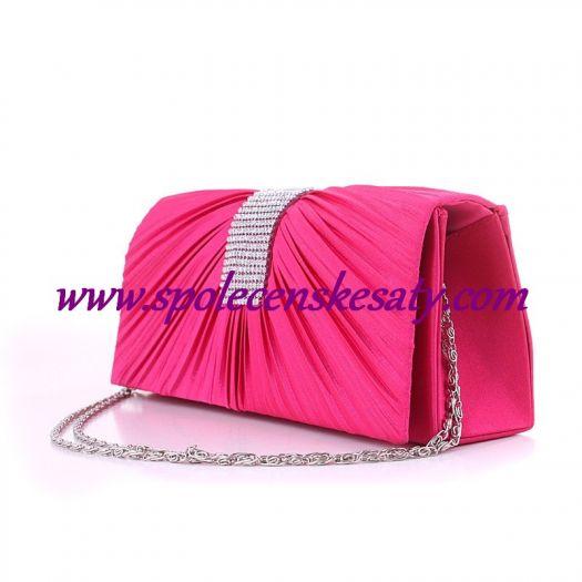 537e67312a Růžová luxusní mini kabelka psaníčko na ples svatbu do společnosti K65
