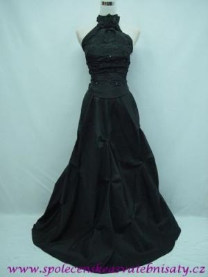Černé večerní šaty na ples do opery na svatbu 40 42 44 M L XL č ...
