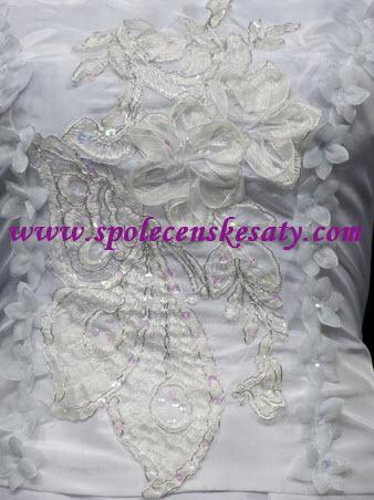 dbf080dc2c1 Bílé dlouhé svatební šaty na hrubší ramínka pro plnoštíhlé 48-50 L XXL č.  další fotografie