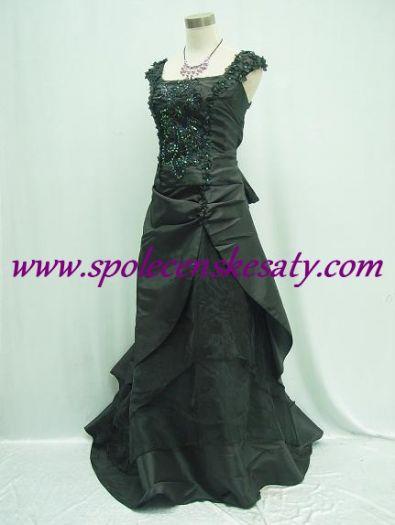 Dlouhé černé společenské plesové svatební šaty s výšivkou ... 72af8a6140