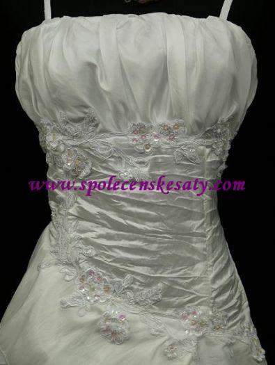 d4c535e5923 Bílé dlouhé svatební společenské šaty s řaseným topem i pro těhotné 42-44  č. další fotografie