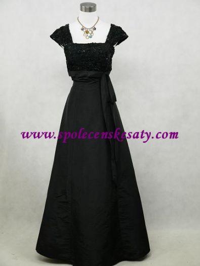 Černé dlouhé společenské šaty na svatbu do tanečních pro matky velikost 38  40 42 44 č 5288d7807b