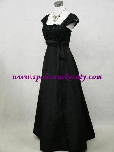 b190ea6fcb9a Černé dlouhé společenské šaty na svatbu do tanečních pro matky velikost 38  40 42 ...