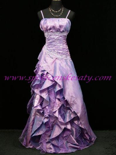 32f3b2b21f4d Světle fialové dlouhé šaty pro nevěstu na svatbu či pro družičku nebo do  tanečních 38 40