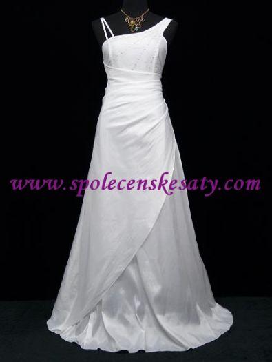 Bílé dlouhé svatební společenské plesové šaty velikost 38 40 42 44 46 S M L  č. 5028M bcc34a7e79