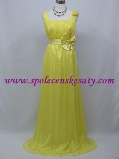 Žluté dlouhé společenské svatební šaty i pro těhotné 40 42 44 L č. 3095 8f7de26b3f6