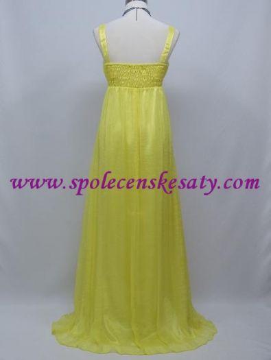 Žluté dlouhé společenské svatební šaty i pro těhotné 40 42 44 L č. 8aae1ba28f