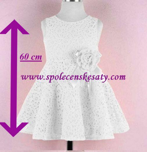 Bílé dětské svatební šaty pro družičky s krajkou b00a5ce6cb