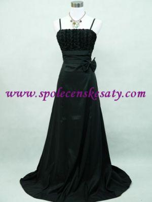 Černé dlouhé společenské plesové šaty do tanečních pro matky větší velikost  M L XL 40 42 44 ae64f8b781