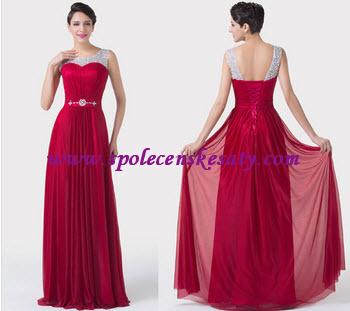 společenské šaty červené stříbrné dlouhé společenské šaty ...